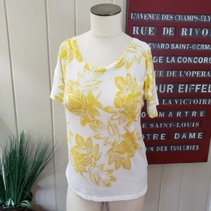 J. Crew | S Collector Tees yellow leaves print